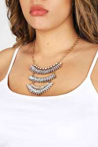 three tier necklace - £1 (+£1.99 C&C or £3.99 Delivery) @ Yours Clothing