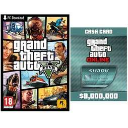 GTA V & Megalodon Shark Card Bundle (PC) @ Game.co.uk only £33.99