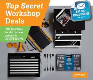 Halfords Exclusive better than Half price Deals Available ie Halfords Advance 170 Piece Socket & Ratchet Set was £300 now £130 with code / 2 for £20 on Tools Mix & Match