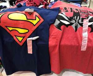 superman/batman ladies t-shirts £2 @ Primark