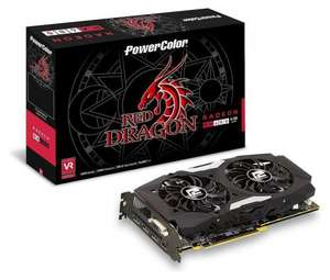 PowerColor Red Dragon Radeon RX 480 8GB GDDR5 AMD Radeon RX 480 8GB GDDR5 - 153 pounds @ Pacetech