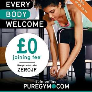 Pure Gym currently running a £0 Joining fee with code (monthly membership applies)