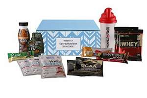 Amazon Sports Nutrition Sample Box £10 (Prime Members Only) and get £10 credit to spend on sports nutrition/slimming items so effectively free!