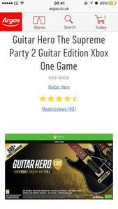 Guitar Hero live Supreme Party Xbox One / PS4 + 6900 GHTV coins (worth £16) £19.99 @ Argos