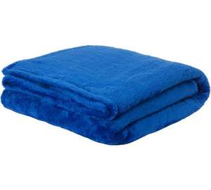 ColourMatch Supersoft Throw - 170x130cm - Marina Blue-  was £9.99 Now £3.99 @ Argos