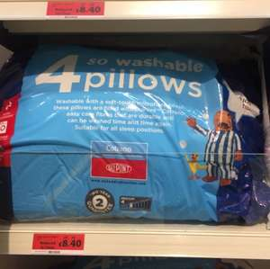 Sainsbury's - 4x Silent night pillows reduced from £28 to £8.40