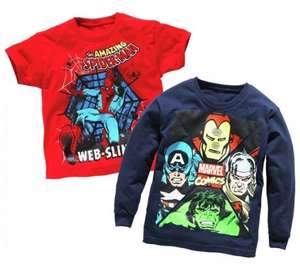 Spider-Man and Avengers T-Shirt 2 Pack (4 - 9Years) was £9.99 now £4.99 @ Argos (C&C)