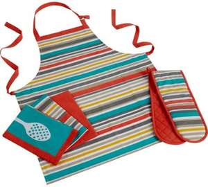 Colourmatch Geo 5 Piece Set (Apron + Oven Gloves + 3 Tea Towels) - £3.99 @ Argos (C&C) [More in 1st Post]