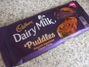 Cadbury's Dairy Milk Puddles with Hazelnut 90g only 39p at Home Bargains