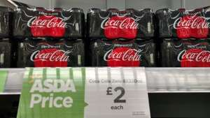 Coke Zero 8 x 330ml was £2.50 now £2.00 @ Asda