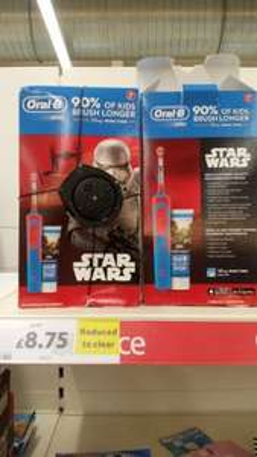 Star Wars kids toothbrush instore tesco for £8.75
