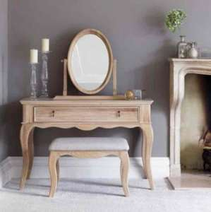 Schreiber Burleston Oak Dressing Table with Mirror and Stool - Was £875 Now £150 @ Argos - plus FREE £10 Argos voucher