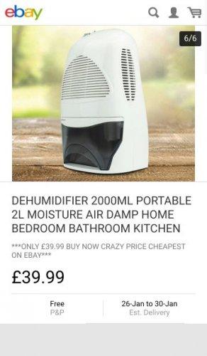 DEHUMIDIFIER 2000ML PORTABLE 2L MOISTURE AIR DAMP HOME BEDROOM BATHROOM KITCHEN £39.99   eBay / premierproducts-uk