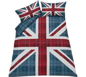 HOME Check Union Jack Multicoloured Reversible Bedding Set From £6.99 ~ Argos (Free C&C)