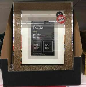 Asda George Home large glass photo frame with gold gloss effect was £6 now £2