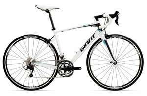 2016 GIANT DEFY 1 ROAD BIKE WHITE Part Shimano 105 £605 with code @ Rutland Cycling