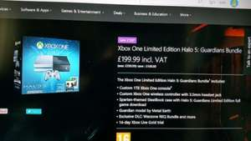 Xbox One 1TB Limited edition Halo 5 £199.99 @ Microsoft