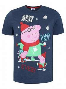 best daddy peppa pig voice/sound tshirt £2 asda george online (free c&c)
