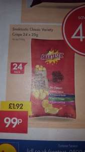 Snaktastic Classic Variety Crisps 24 x 25g only 99p @ Lidl on 28th/29th January