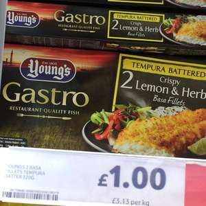 Young's Gastro Basa Fillets in Lemon and Herb Tempura Batter £1 @ Tesco instore