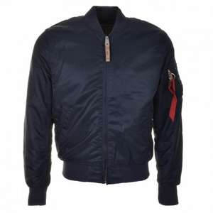 ALPHA INDUSTRIES MA 1 VF 59 Navy Blue Bomber Jacket £63.84 @ Mainline Menswear