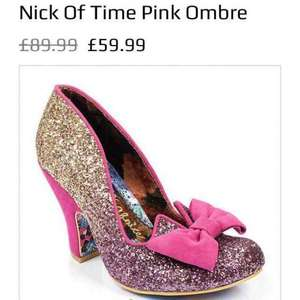 Irregular choice nick of time pink ombre £59.99 / £63.98 delivered @ eshoesdirect