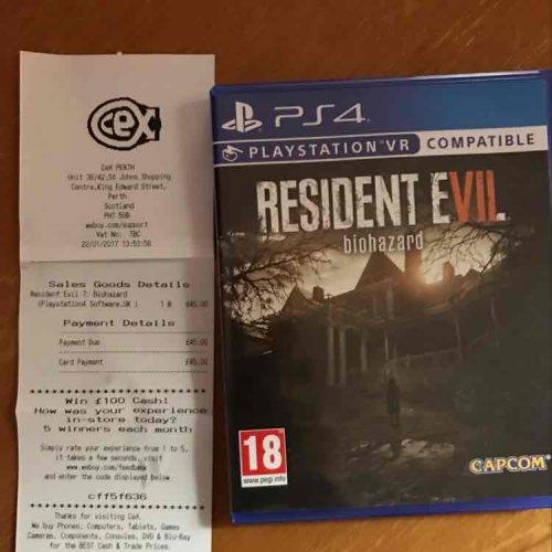 Resident evil 7 £45 @ CEX instore