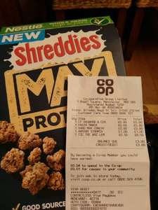 Shreddies Max Protein 80p instore @ Co-op