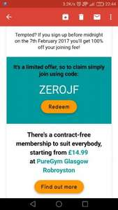 Pure gym no joining fee