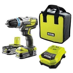 ryobi brushless cordless drill with 2 x 2.5aH lithium plus batteries + fast charger £149.99 @ Homebase