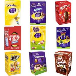 All Medium Easter Eggs £1.50 Buy 1 Get 1 Free Starts 27th Feb @ Tesco