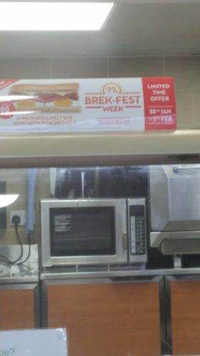 Subway Brek-Fest - 6 inch Mega Melt - 99p