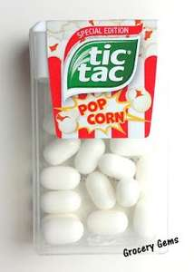Popcorn Flavour Tic-Tacs.... 6 packs for £1.00 Heron Foods