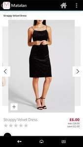Matalan sale- Women's Strappy velvet dress for £6 - Free c&c