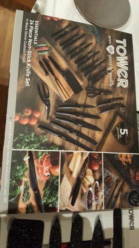 Tower 24 piece knife set £10 instore Morrisons - Porttalbot