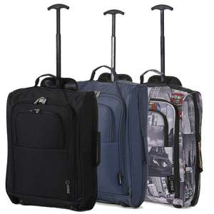 "Set of 3 21""/55cm 5 Cities Cabin Approved Had Luggage Lightweight Trolley Bags, Amazon £18.99 (Dispatched from and sold by Luggage Travel Bags UK)"