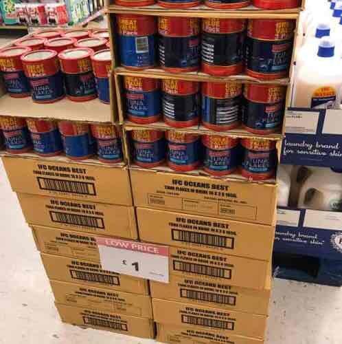 3 tins of tuna for £1 pound stretcher