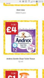 Andrex toilet tissue 12 pack at One Stop instore £4