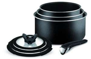 Tefal Ingenio Essential Non-stick Saucepan Set (7 Pieces,Black) was £85 now £39.99 @ Amazon