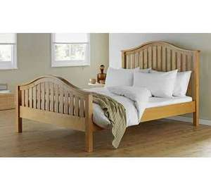 Collection Newbridge Double Bed Frame - OAK Stain - Was £279.99 Now £127.50 @ Argos + FREE £10 Voucher