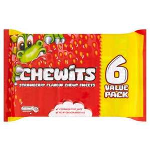 Chewits six pack 25p rrp 35p for 1 pack !! works out 4p a pack @ Poundstretcher