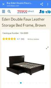 Double faux leather storage bed for only £74.75 @ Tesco Direct + £7.95 delivery or free delivery with Delivery Saver