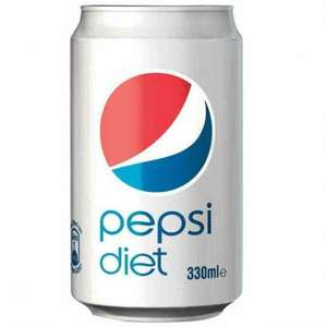 Pepsi diet 330ml just 10p £1 for 10 cans!!@ poundstretcher