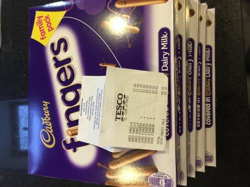 Cadbury Fingers family pack 62p instore @ Tesco - New St Birmingham
