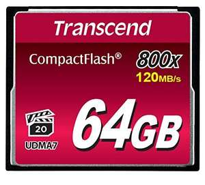 Transcend 64GB 800x Premium Compact Flash Card £46.24 @ Amazon