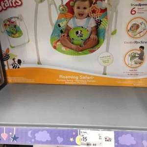 Roaming Safari baby swing £15 instore @ Asda