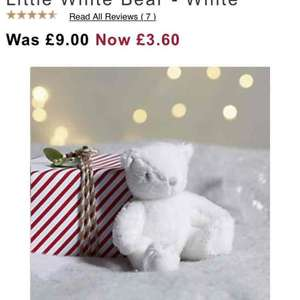 The White Company - Teddies starting from £3.60 plus free delivery with code