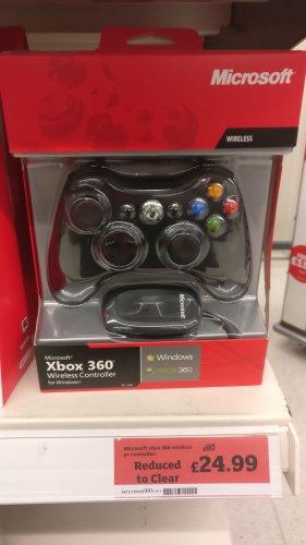 Microsoft Wireless Xbox 360/Windows Game Controller - Clearance in Sainsburys £24.99