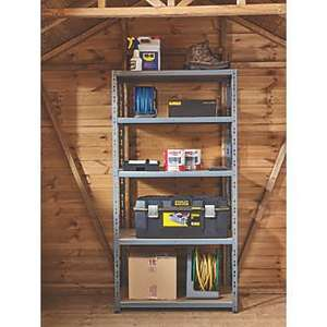 Heavy Duty Shelving 5 tier 200kg per shelf £19.99 @ Screwfix C&C