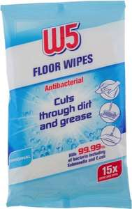 Lidl 15 Antibacterial W5 Floor Wipes only 65p